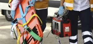 EMTs arriving at a medical emergency